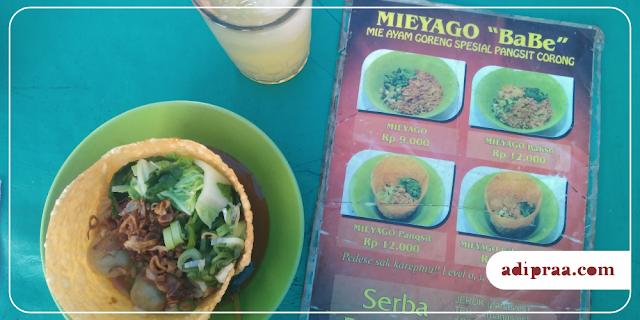 Menu pesanan di Mieyago Babe | adipraa.com