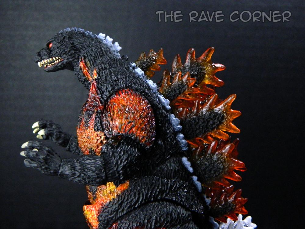 The Rave Corner S H Monsterarts Godzilla 1995 Burning