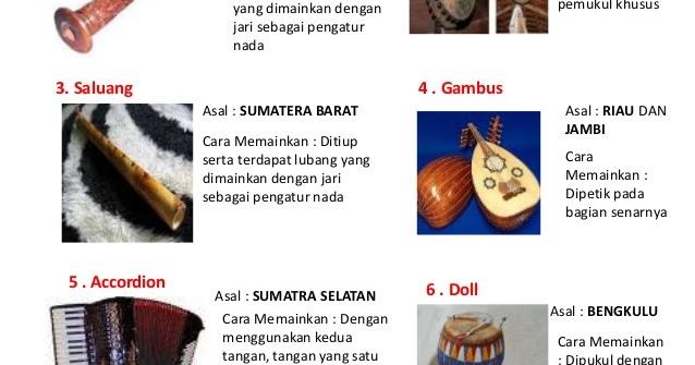 Sifra Blog Tugas Makalah Seni Budaya Alat Alat Musik Tradisional Beserta Daerah Asalnya