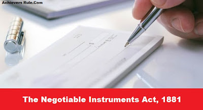 Frequently Asked Questions on Negotiable Instruments Act