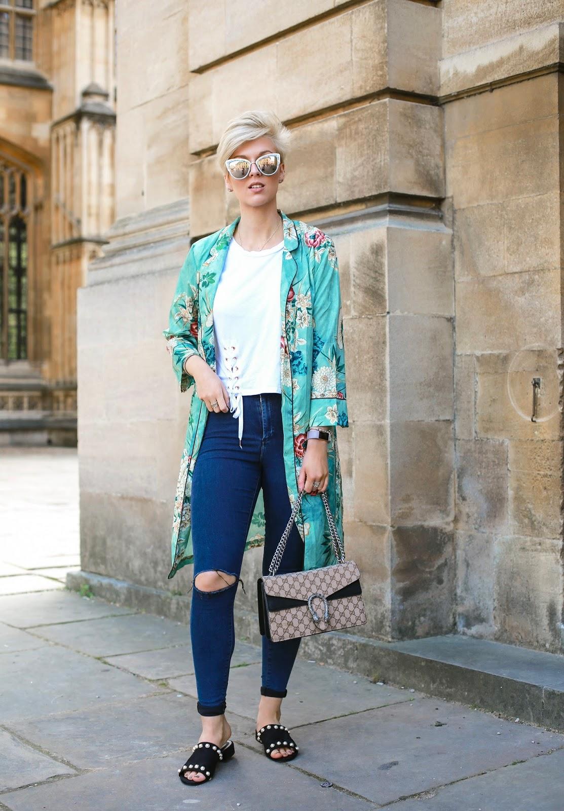 the pixie cut mint kimono zara dupe