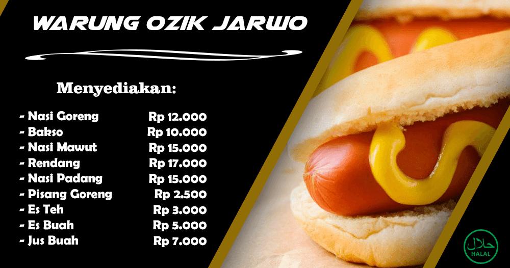 Contoh Desain Banner Kedai Makan - gambar spanduk