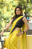 Cute Actress Ashwini in Yellow Saree Exclusive  029.JPG