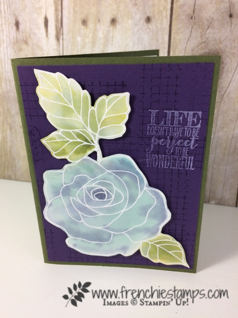 Wonder Rose, Floating ink, Stampin'Up!, frenchiestamps,