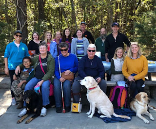 Gathering with Dixie Land Guide Dog Users and friends at James Island County Park