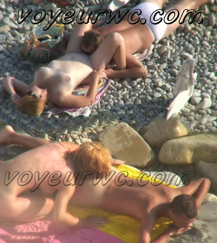 BeachHunters Sex 19274-19358 (Hot Nudist Couples spy cam at the beach)