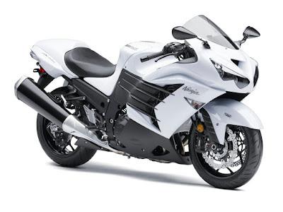 Kawasaki Ninja ZX-14R white HD Image