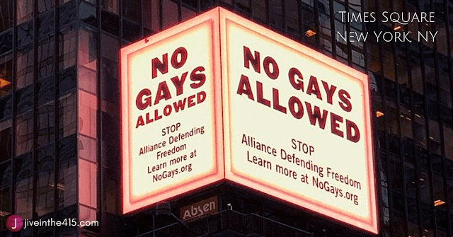 Citizens for Transparency's NoGays.org billboard in Times Square