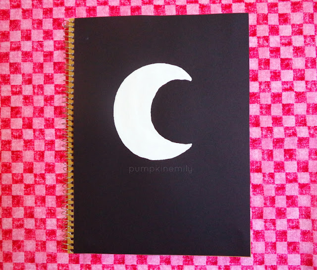 Notebook Cover Idea Moon Notebook Cover