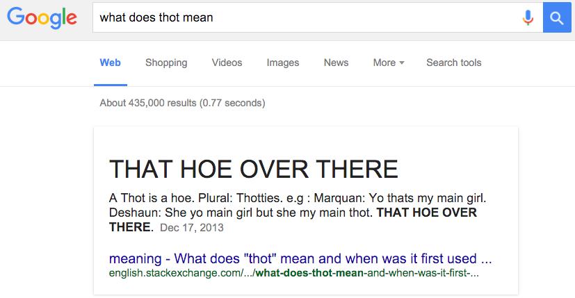 Thotties definition