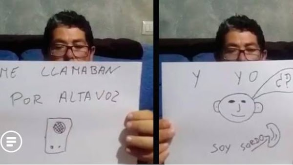 Llaman por altavoz a persona con discapacidad auditiva; esperó 7 horas (VIDEO)