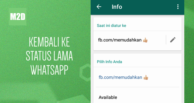 Update Status WhatsApp Lama