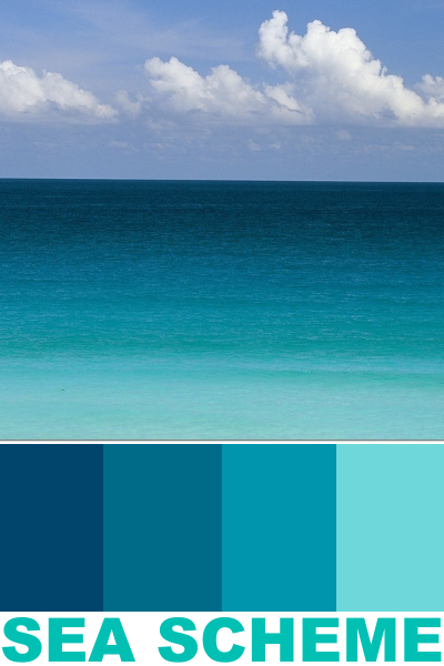 Ocean Sea Color Scheme Paint Palette Ideas