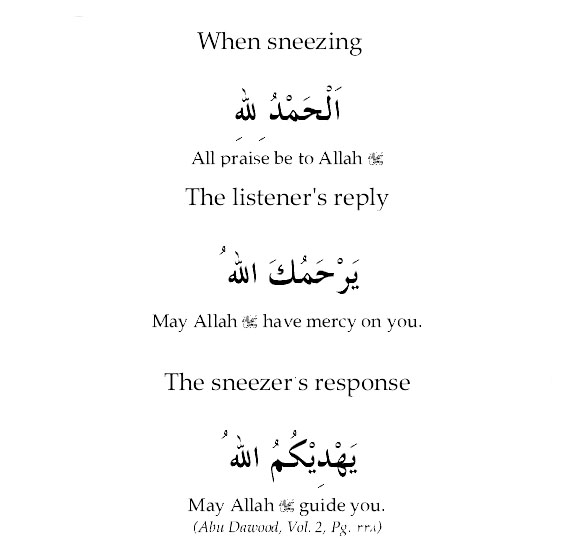 Dua For Sneezing: