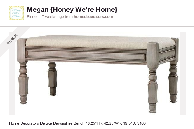 End of the Bed Bench | Honey We're Home