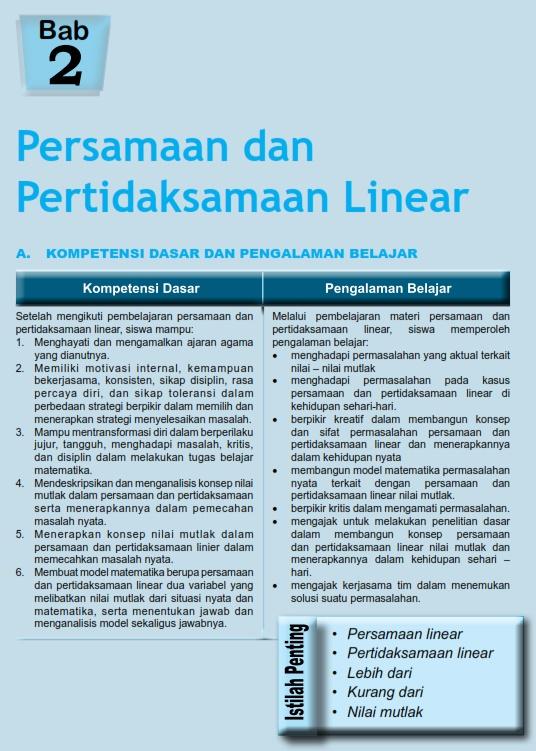 Persamaan dan pertidaksamaan linear pdf download