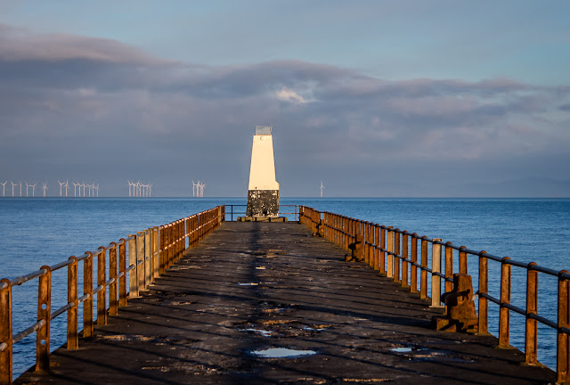 Photo of early morning light on Maryport pier