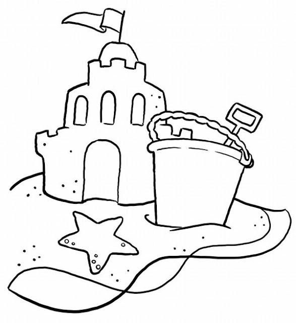 coloriage en ligne chateau de sable