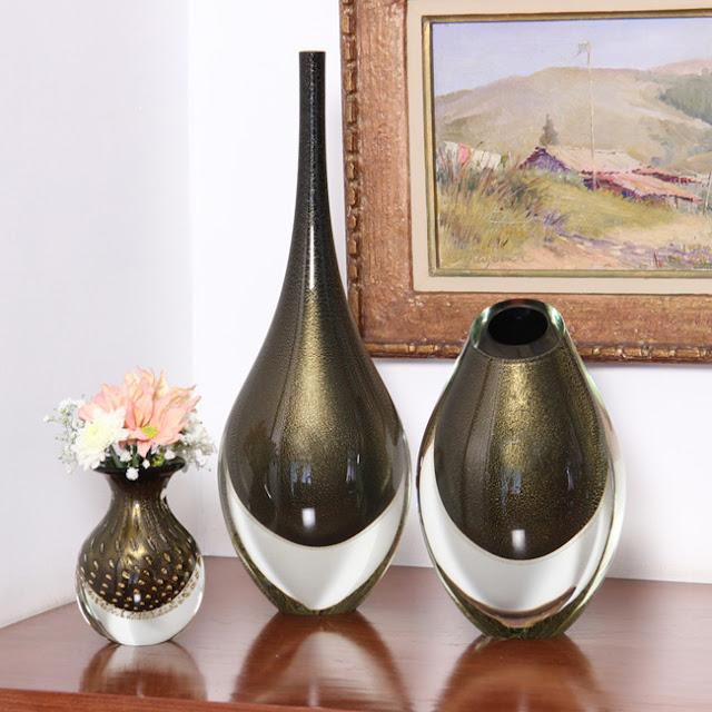 decoração-vasos-com-ouro