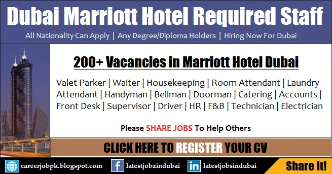 JW Marriott Hotel Careers And Jobs In Dubai Latest Vacancies