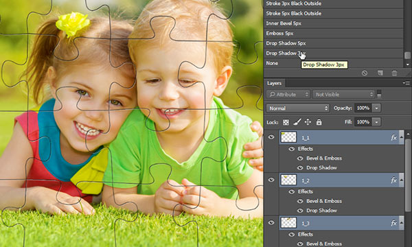 Apply Layer Style/Effect to Multiple Layers in Photoshop
