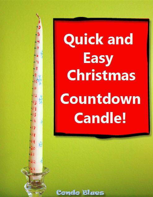 condo blues how to make a christmas countdown calendar candle. Black Bedroom Furniture Sets. Home Design Ideas
