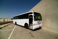 Armored Ashok Leyland Falcon Bus