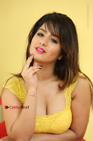 Cute Telugu Actress Shunaya Solanki High Definition Spicy Pos in Yellow Top and Skirt  0595.JPG