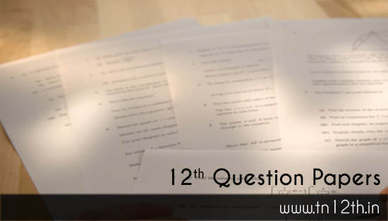 Tamilnadu 12th Question Paper Bank with Model & Important pdf Collections