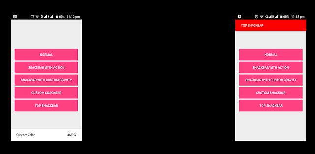 Custom Snackbar