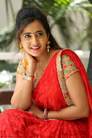 Lasya Cute Beauty in Saree Backless Choli at her Interview ~  Exclusive 020.JPG