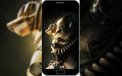 Casque Fallout 76 - Fond d'Écran en QHD pour Mobile