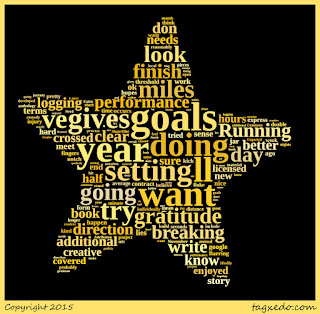 Wordcloud of goals for 2016