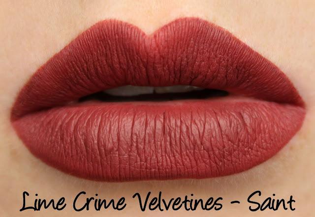 Lime Crime True Love Velvetines Set - Saint Swatches & Review