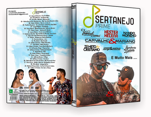SERTANEJO PRIME DVDR AUTORADO – CAPA DVD