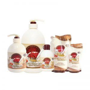 Velvy Goat's Milk Shower Cream Rosehip Seed Oil dan Peach