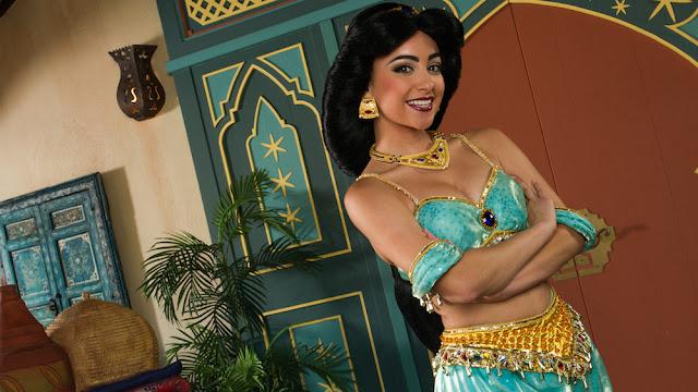 Onde encontrar a princesa Jasmin nos parques da Disney