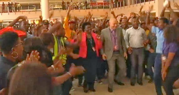 flash mob lagos nigeria airport