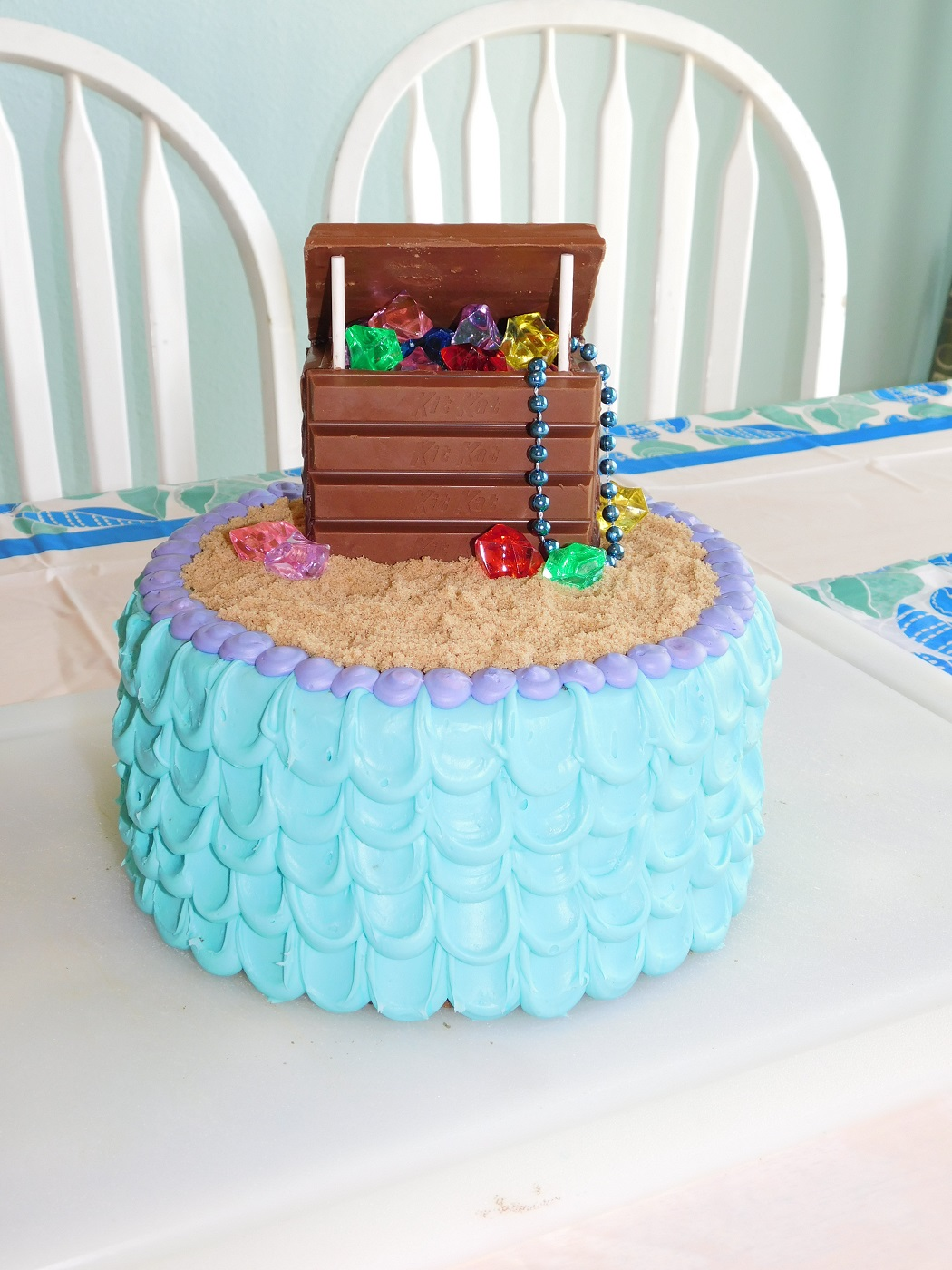 Clever Crafty Cookin Mama Mermaid Treasure Cake