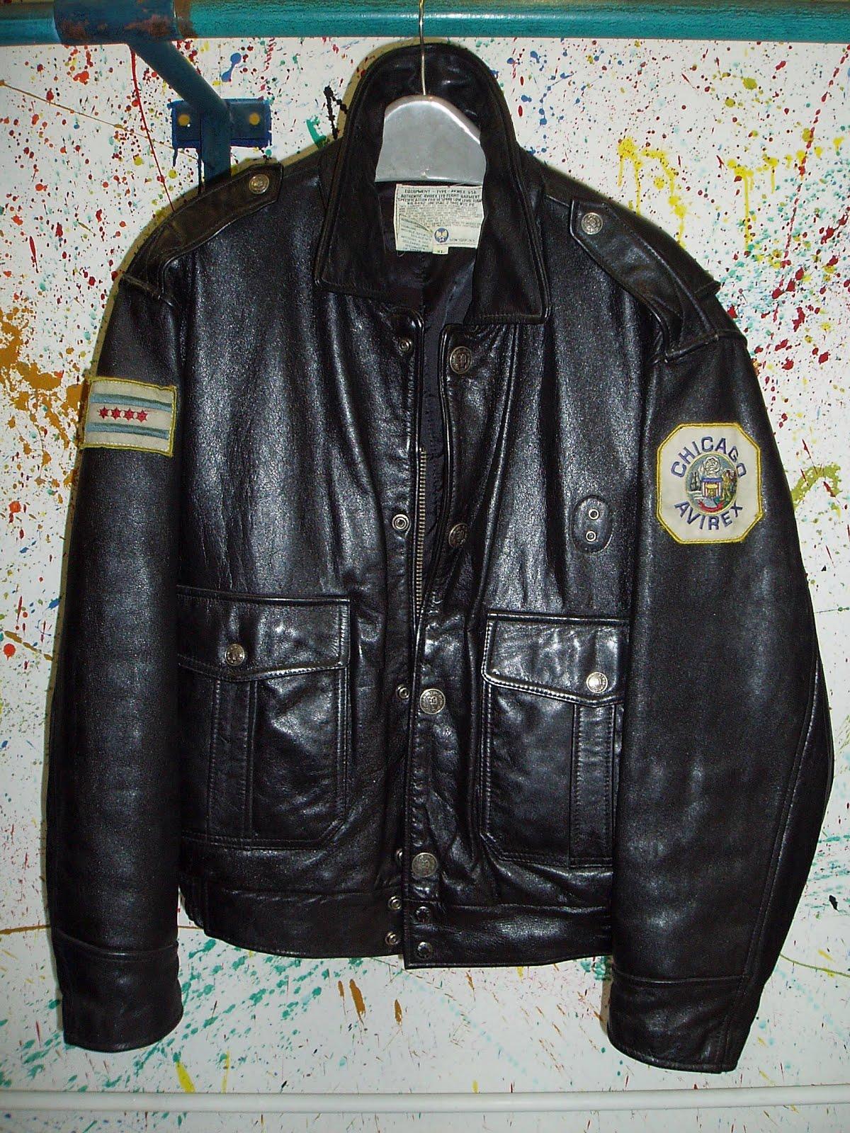amerikai rendőrség által használt fazonú AVIREX bőrjackie  427edaed4f
