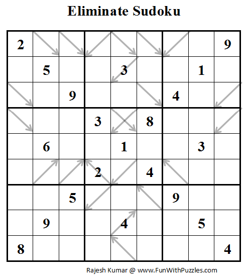 Eliminate Sudoku (Daily Sudoku League #86)
