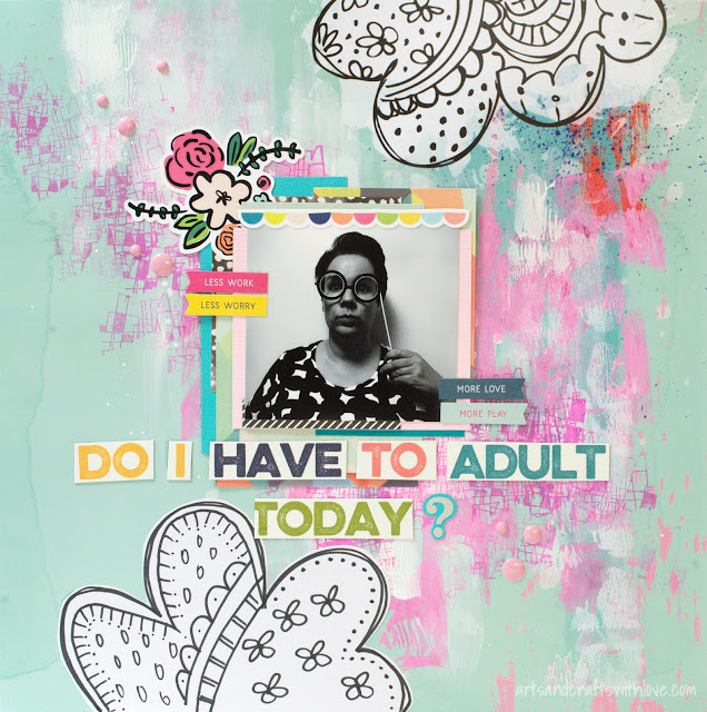 Scrapbooking Layout: No adulting today