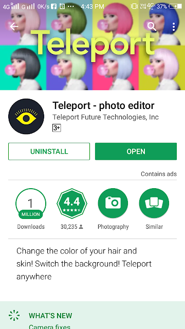 How to use teleport app photo editing