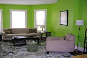 warna cat ruang tamu 2 warna yang baik dan simple