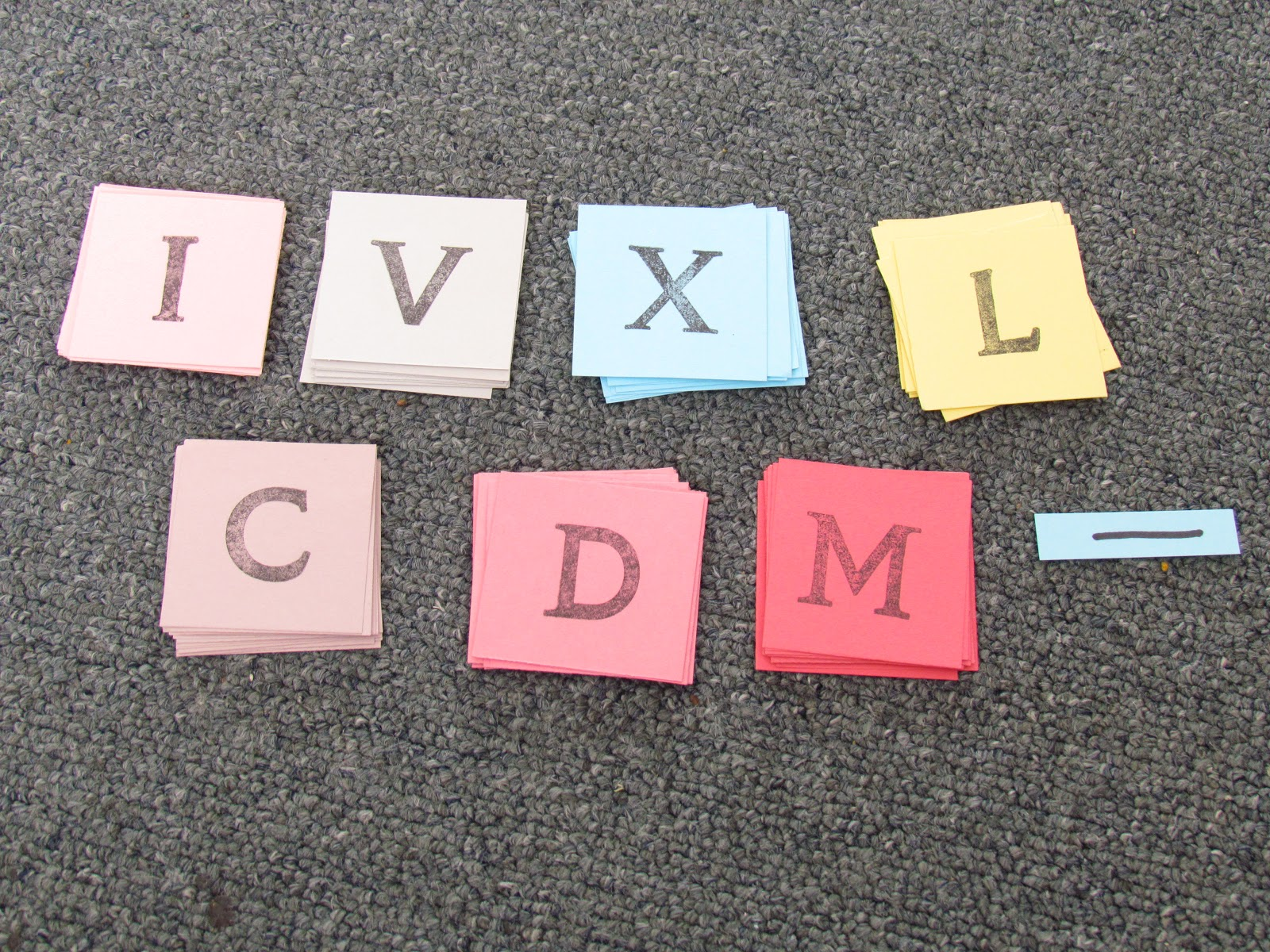 Games For Learning Roman Numeral Bingo