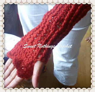 long fingerless gloves