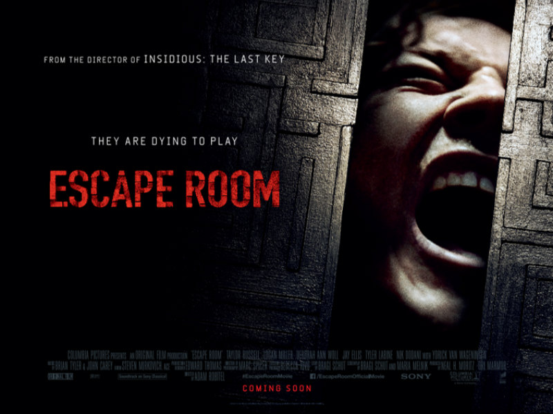 escape room film poster