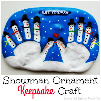 Saltdough Snowman Keepsake