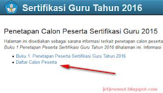 http://sergur.kemdiknas.go.id/pub/index.php calon peserta cara melihat claon peserta sergur 2016 pola ppgj dan plpg