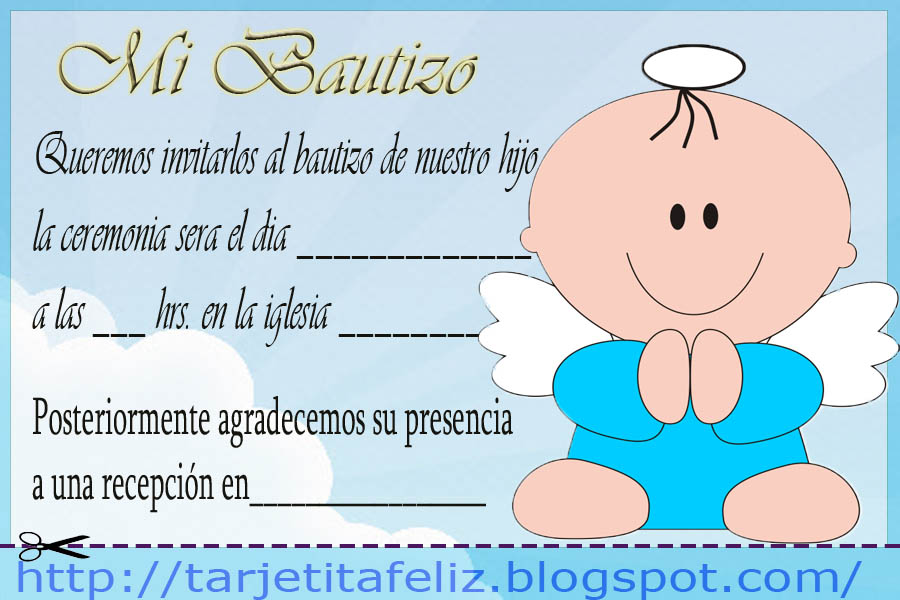 Tarjetas De Bautizo Para Imprimir Gratis Personalizadas Imagui